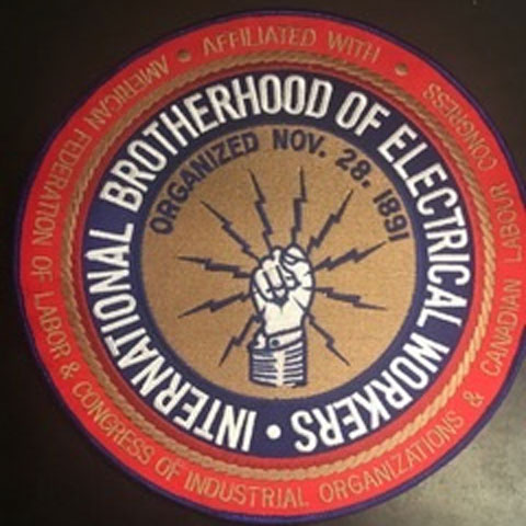 Large IBEW Patch
